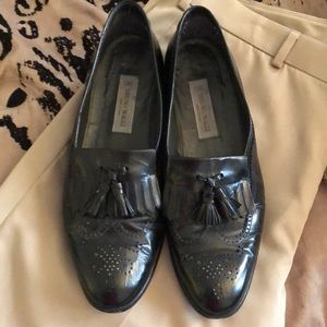 Men's Size 11.5 Black Wingtip Bruno Magli Loafers